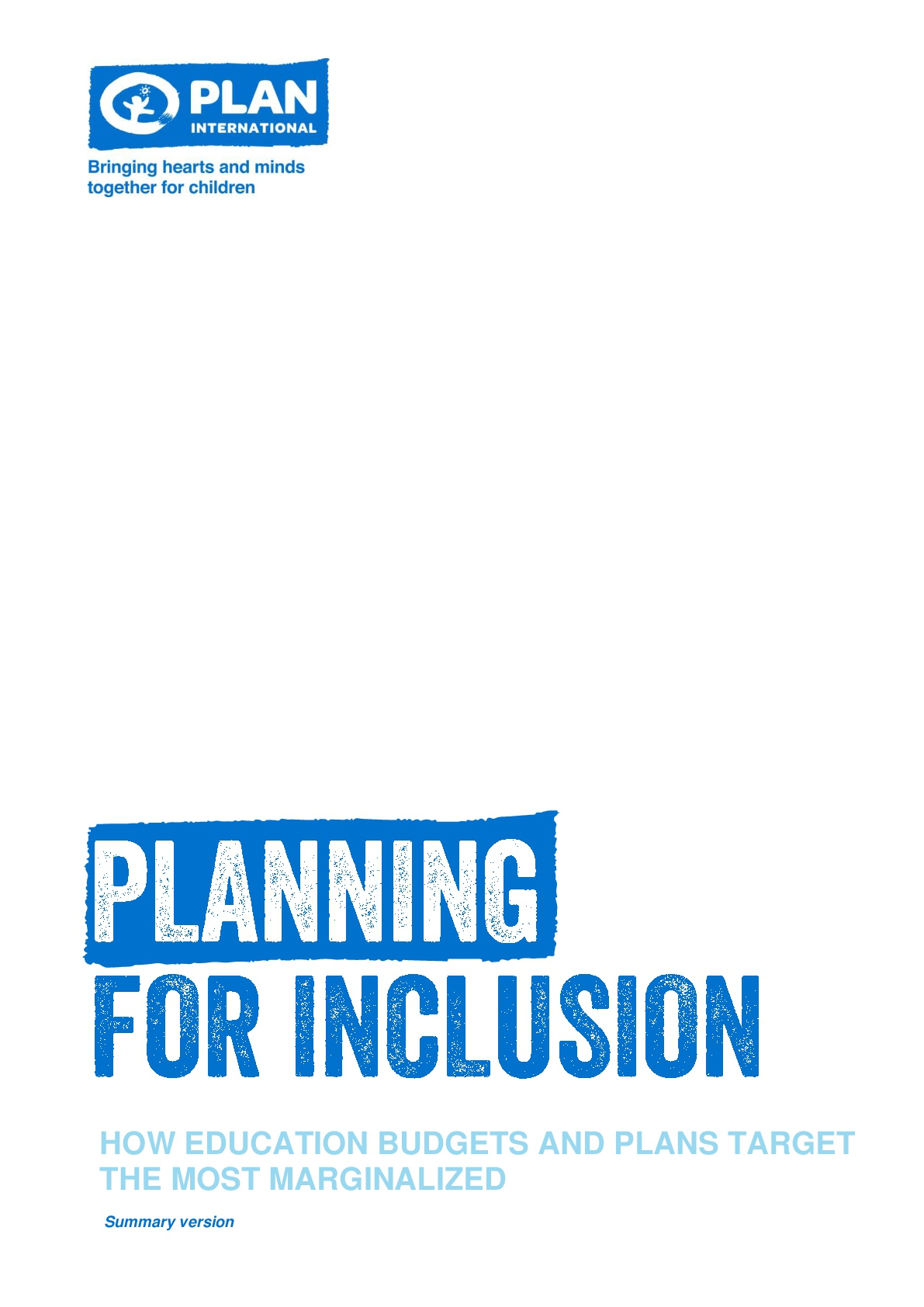 Planning for inclusion: How education budgets and plans target the most marginalized