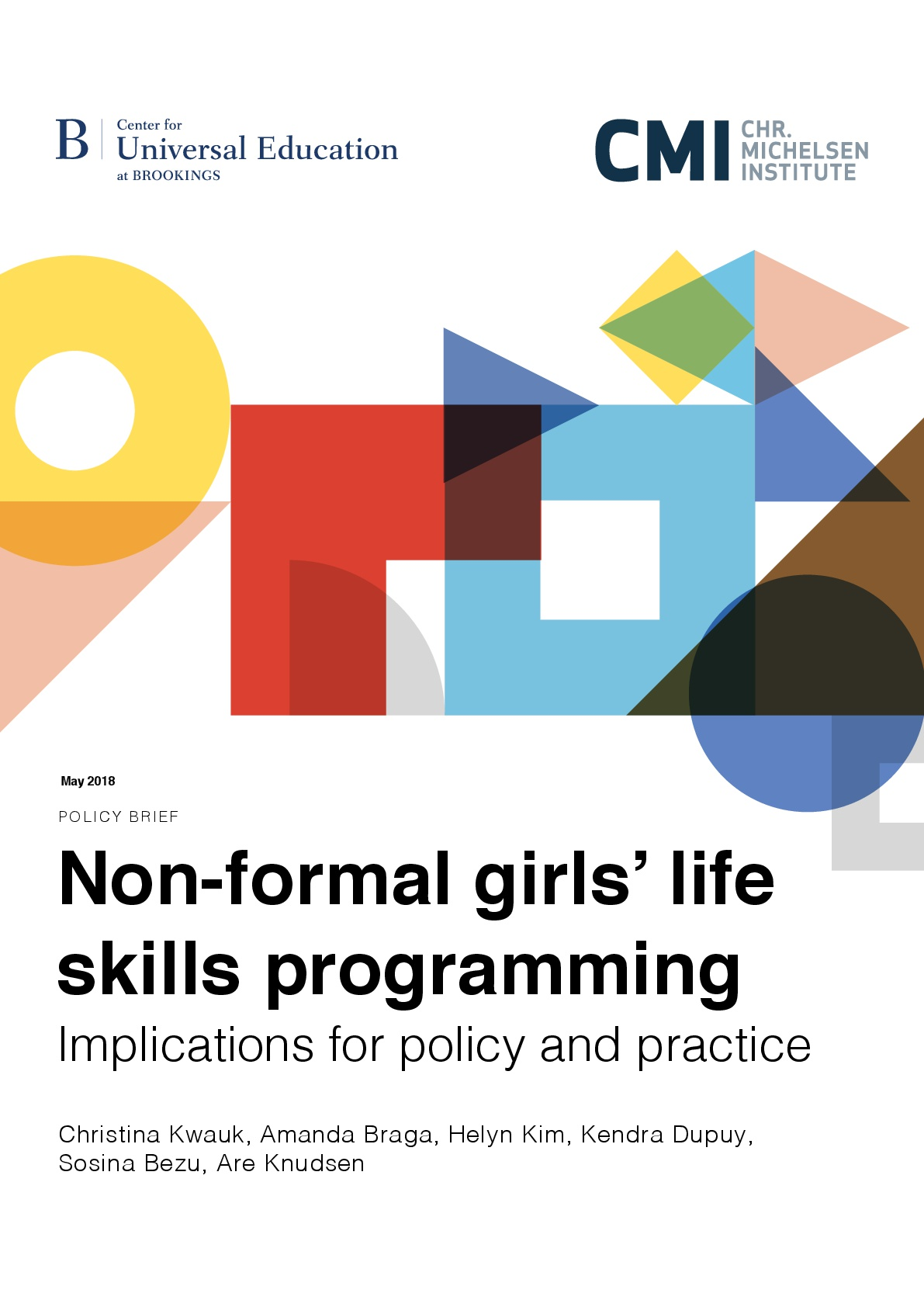 Non-formal Girl's Life Skills Programming Implications For Policy and Practice