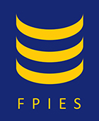 A logo showing blue background with three yellow stripes in a row and the letters F P I E S below